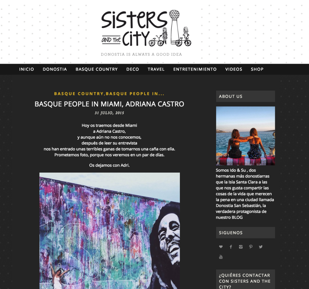 Sisters and the City - Adriana Castro Interview