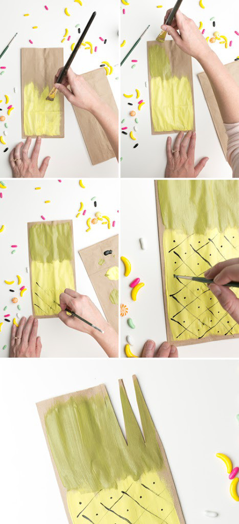 DIY Pineapple Favor Bags2