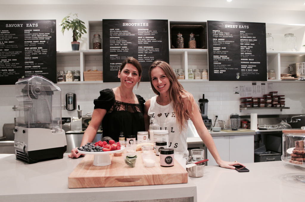 Beauty Smoothies Workshop by Shambhala Love - Vane and Rachel together looking to the camera