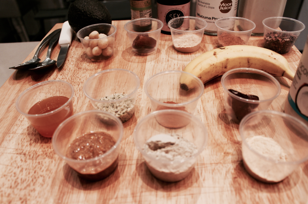 Beauty Smoothies Workshop by Shambhala Love - Ingredients for the smoothies