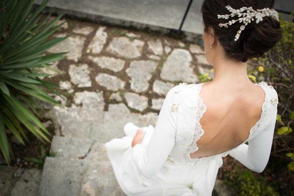 Talento Donostiarra - Vasver Fotografía - Novia Bajando escaleras