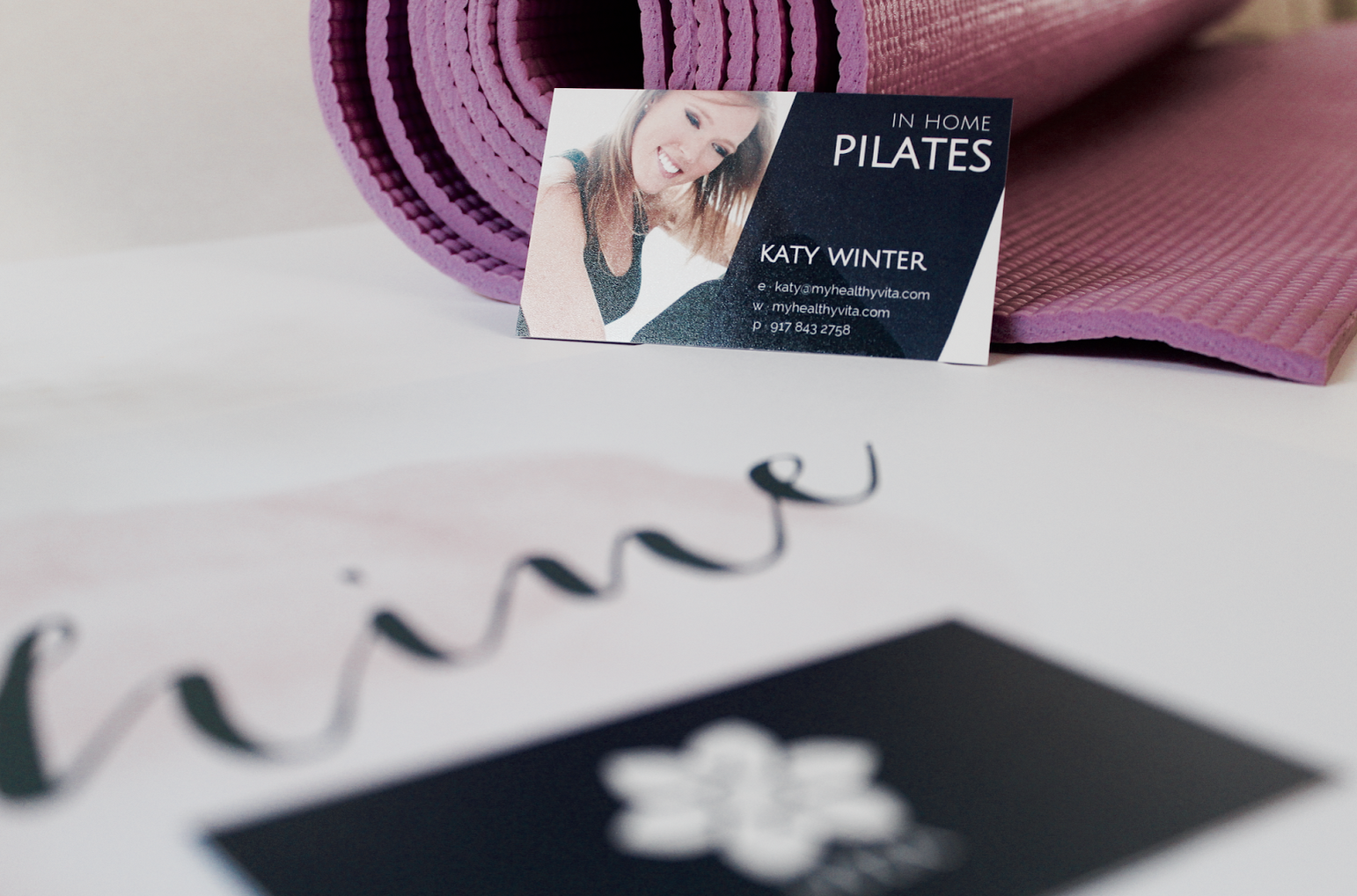 Business card and flyer design proposal in home pilates creative business card and flyer design proposal in home pilates creative studio reheart Images