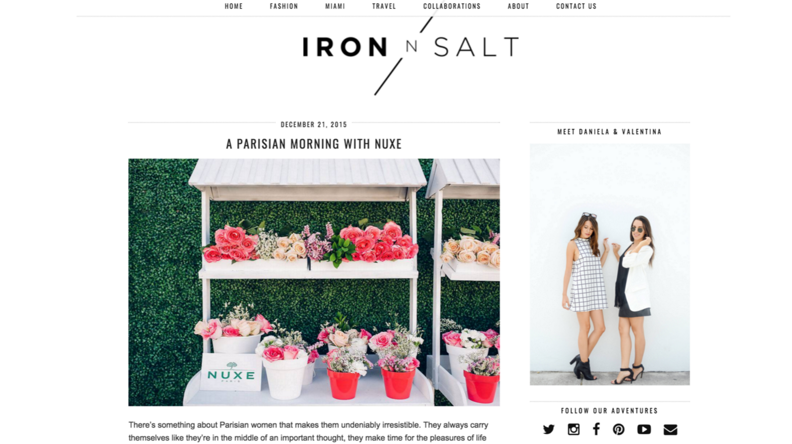 Press - The Creatives Loft Mentions - Iron N Salt
