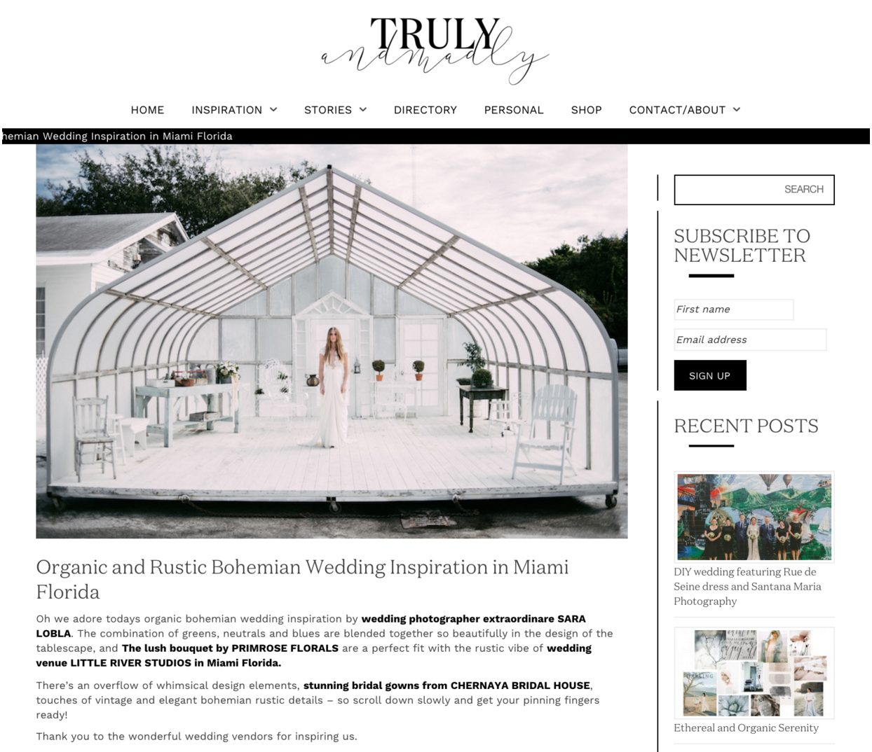 Featured On Truly and Madly Wedding Blog
