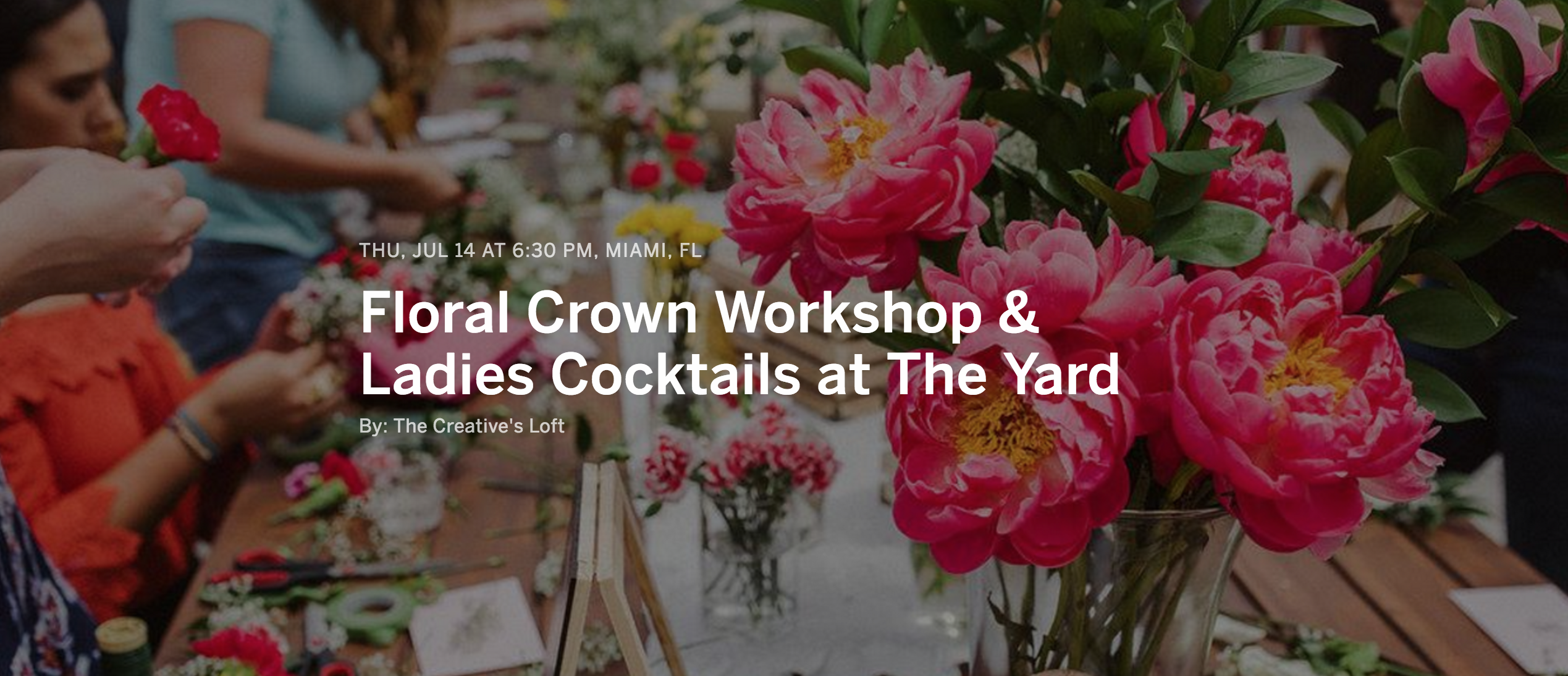 Floral Workshop & Ladies Cocktails at The Yard