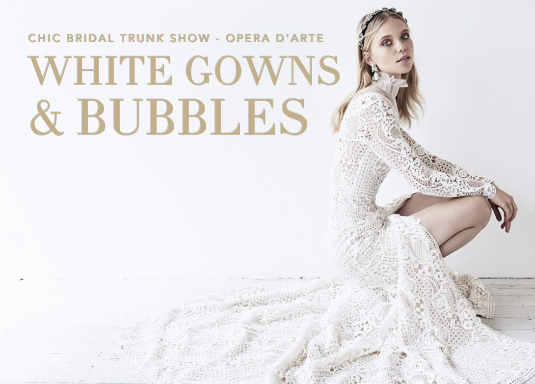 Chic Bridal Trunk Show Miami - White Gowns & Bubbles