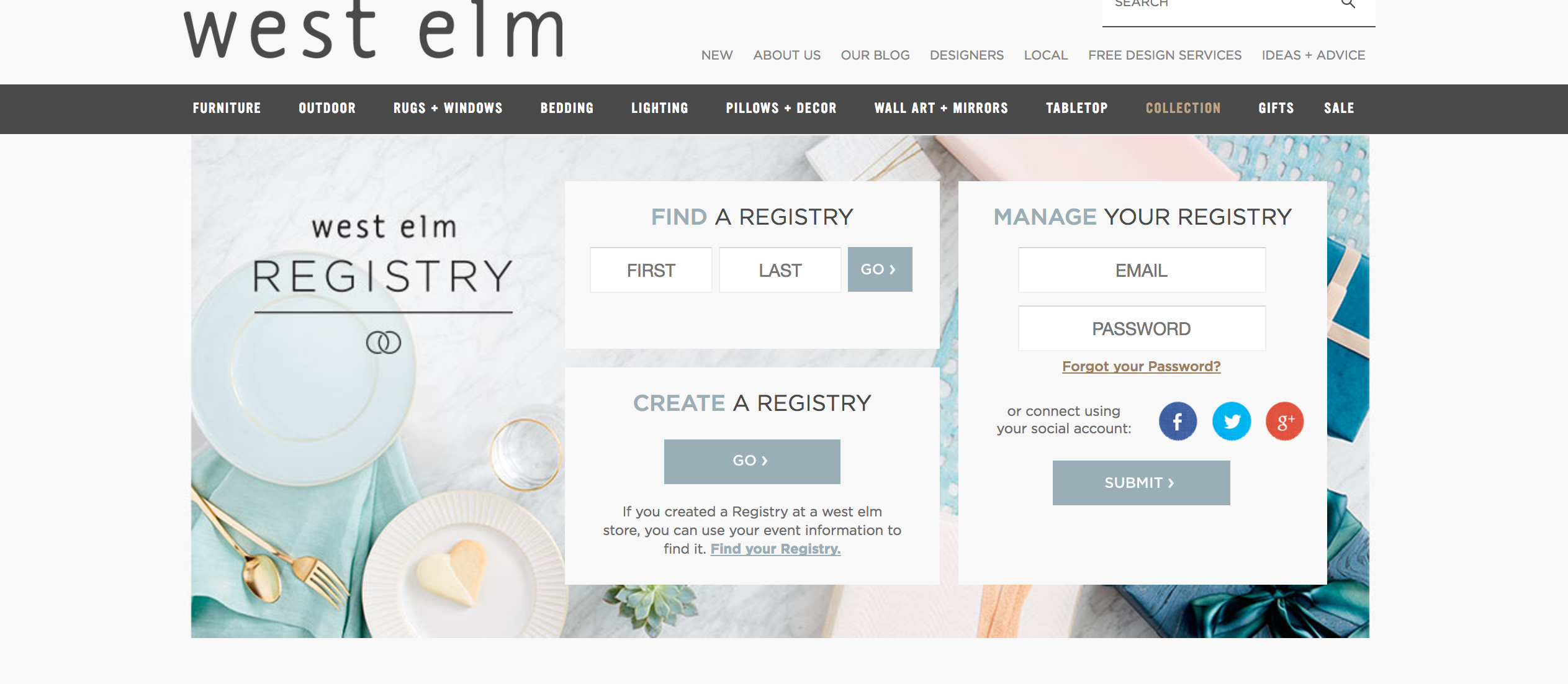 WestElm the Wedding Registry for Creative Brides The Creatives Loft Miami and NYC Wedding Planner