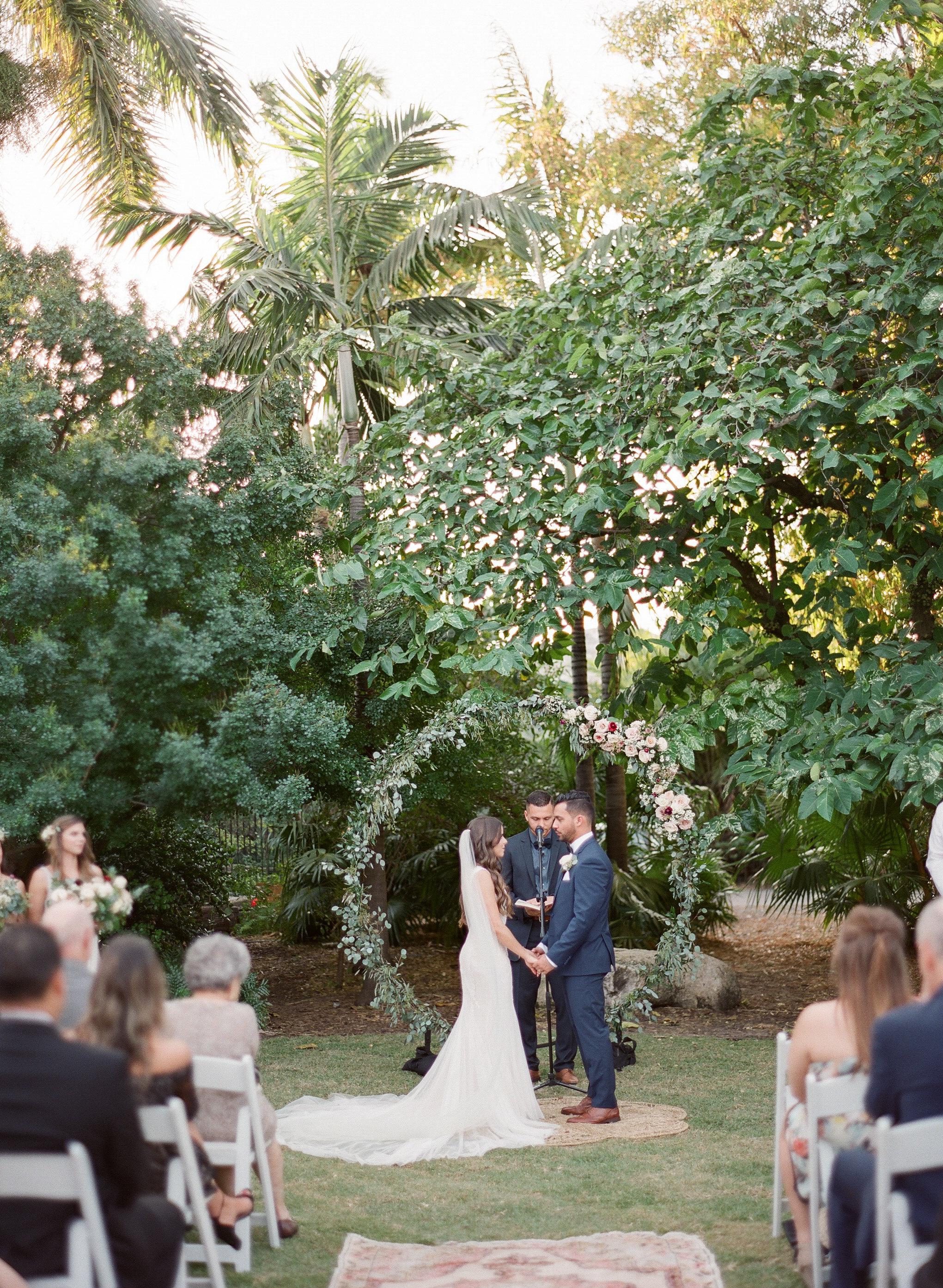 Boho Chic Garden Wedding in Miami Beach Botanical Gardens Florida