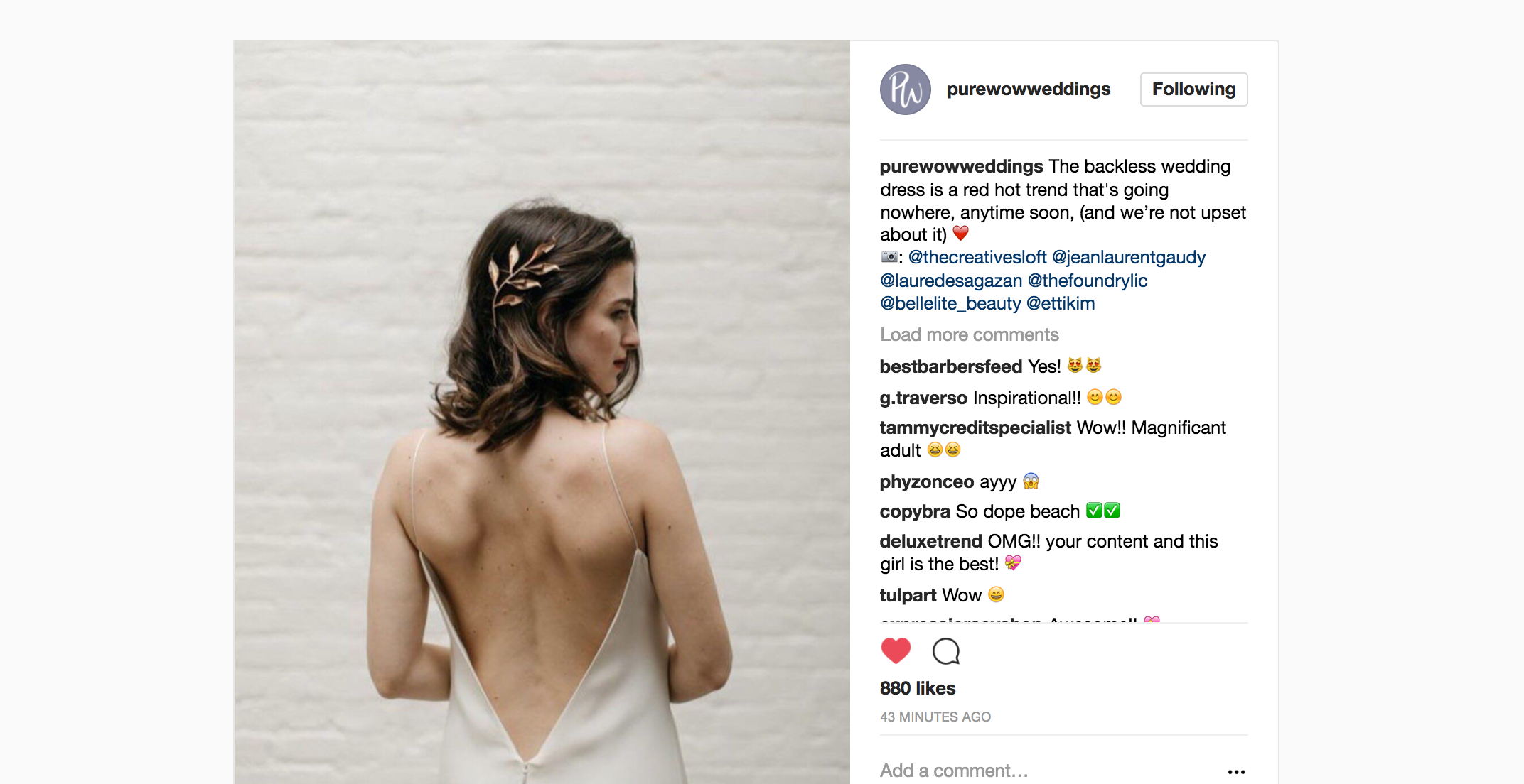 Featured on Pure Wow Weddings Blog our The Foundry NY Wedding