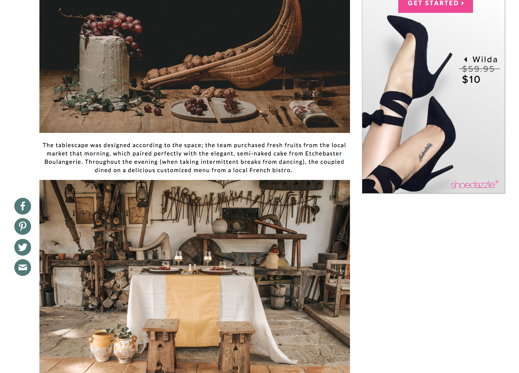 Featured on Green Wedding Shoes Basque Country Wedding The Creatives Loft Wedding Planning Studio