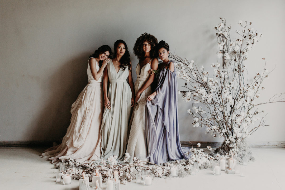 Featured on Junebug Weddings our Winter Bridal Editorial Wedding The Creatives Loft Wedding Planner