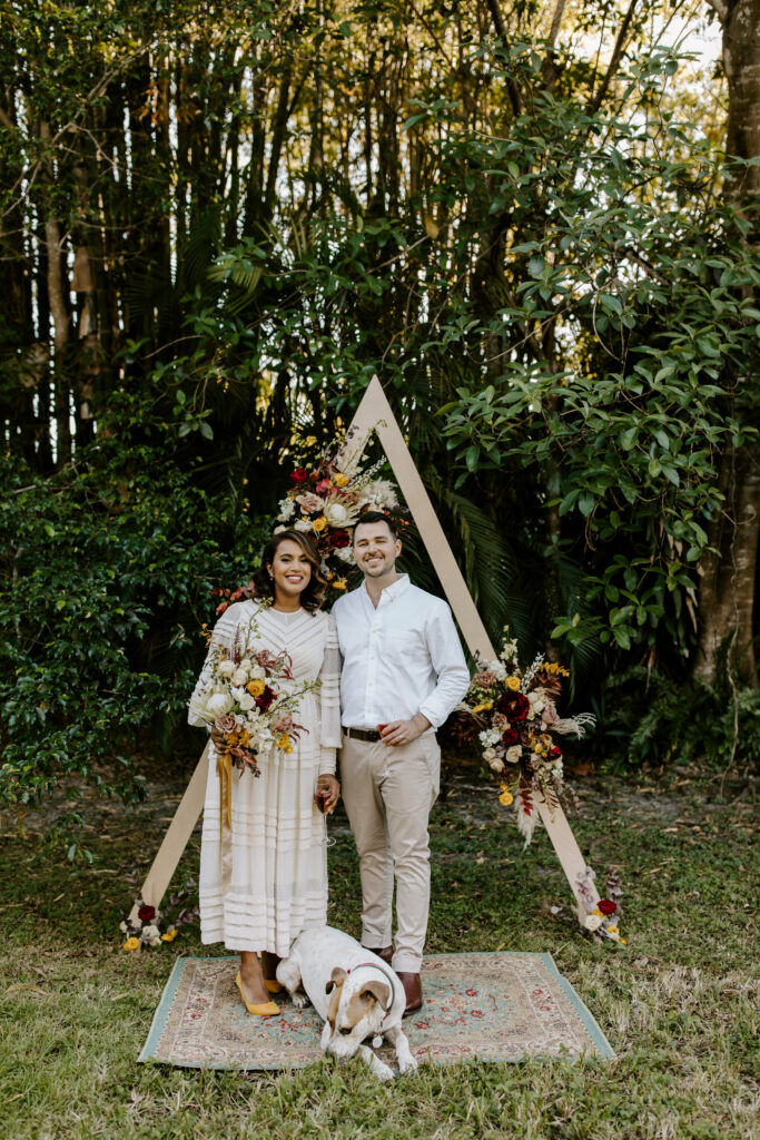 Miami Bohemian Elopement Wedding The Creative's Loft Standing in the altar